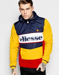 Ellesse Overhead Jacket With Large Logo Yellow