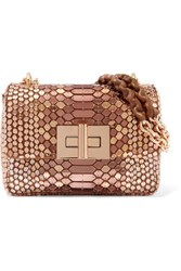 Tom Ford Natalia Sequined Suede Shoulder Bag Pink