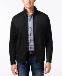 Tasso Elba Men's Quilted Jacket Only At Macy's Deep Black