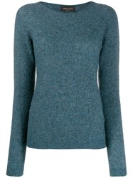 Roberto Collina Knitted Cashmere Jumper Blue