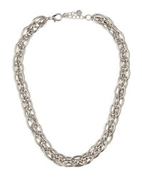 Lydell Nyc Rhodium Tone Chain Collar Gray