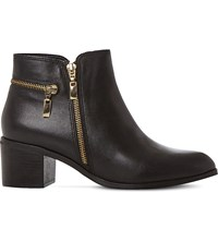 Dune Pemberley Leather Ankle Boots Black Leather