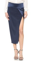 Mason By Michelle Mason Obi Wrap Skirt Navy