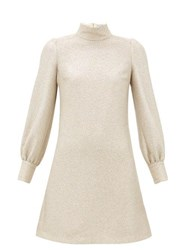 Bella Freud Valley Of The Dolls Balloon Sleeve Mini Dress Light Gold