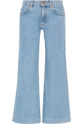 Mih Jeans Topanga Mid Rise Wide Leg Jeans Light Denim