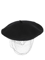 Silver Spoon Attire Beret With Mesh Veil