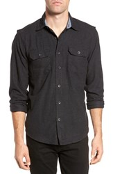 Tailor Vintage 'S Heather Flannel Shirt Charcoal Heather