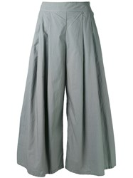 Labo Art Wide Pleated Trousers Women Cotton 1 Grey