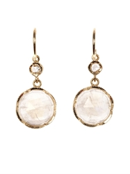 Irene Neuwirth Diamond Pink Opal And Gold Earrings
