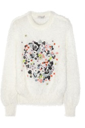Erdem Bayley Embroidered Knitted Sweater White