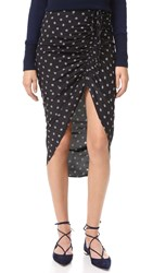 Veronica Beard Ari Ruched Drawstring Skirt Black