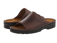 Naot Footwear Tundra Crazy Horse Leather Men's Slide Shoes Brown