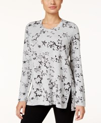 Styleandco. Style Co. Petite Stars Print T Shirt Only At Macy's Galaxy