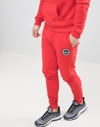 Hype Skinny Logo Joggers In Red