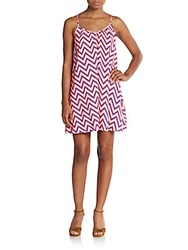 Saks Fifth Avenue Red Gathered Tank Dress Bright Pink