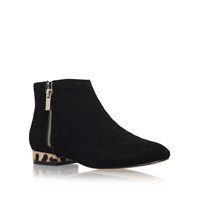 Miss Kg Soho Low Heel Ankle Boots With Zip Black