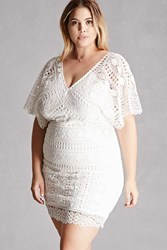 Forever 21 Plus Size Soieblu Crochet Dress Ivory