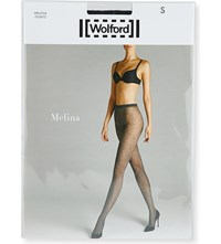 Wolford Melina Floral Pattern Tights Black