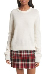 Rag And Bone Women's Ace Cashmere Crop Sweater Ivory