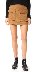 Helmut Lang Patch Pocket Miniskirt Terra