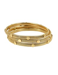 Diane Von Furstenberg Summer Disco Snake Chain Bangle Bracelet Set Gold