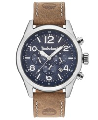Timberland Men's Ashmont Light Brown Leather Strap Watch 46Mm