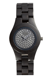 Wewood 'Moon Crystal' Wood Bracelet Watch 29Mm Black