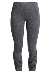 Lorna Jane Confidence Support Tights Char Marl Mottled Grey