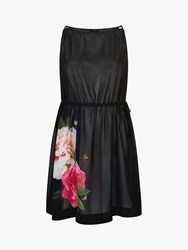 Ted Baker Velrano Magnificent Floral Print Cover Up Black Multi