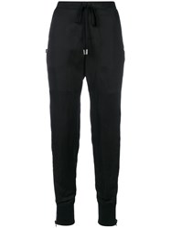 Tom Ford High Waisted Track Style Trousers Black