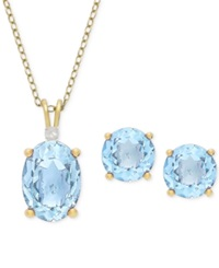 Victoria Townsend Pendant And Stud Set Yellow Gold