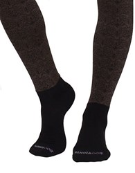 Bootights Filigree Scoll Sock Tights Stone