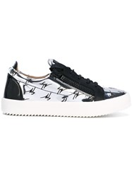 Giuseppe Zanotti Design The Signature Low Top Sneakers Men Leather Rubber 42 Metallic