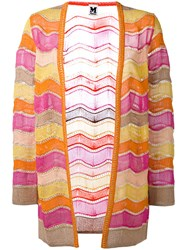 M Missoni Open Front Cardigan Yellow Orange
