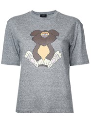 G.V.G.V. Stuffed Animal Print T Shirt Grey
