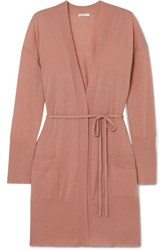 Eres Interdit Belted Cashmere Cardigan Antique Rose