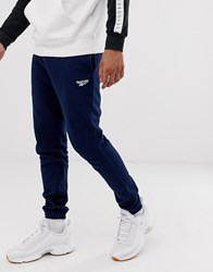 Reebok Joggers In Navy With Small Logo