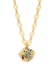 Gucci Roaring Tiger Pendant Necklace Gold