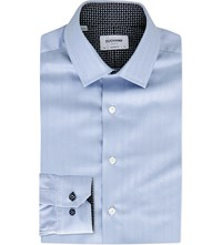 Duchamp Contrast Cuff Cotton Shirt Navy