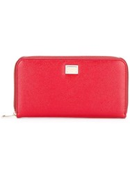 Dolce And Gabbana Continental Wallet Red