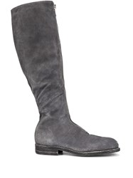 Guidi Front Zip Boots Grey