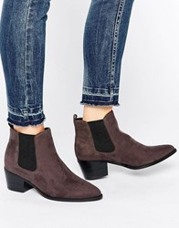 Head Over Heels By Dune Perina Grey Heeled Chelsea Boots Dark Grey