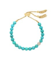 Cole Haan Turqoise And 12K Goldplated Bracelet Turquoise
