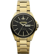 Vivienne Westwood Vv063gd Gold Toned Stainless Steel Watch Black