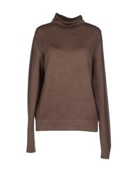 S.O.H.O New York Soho Knitwear Turtlenecks Women Khaki