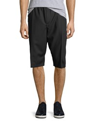 Mcq By Alexander Mcqueen Pleated Front Wool Shorts Black