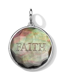 Sterling Silver Carved Intaglio Faith Charm Black Shell Doublet Ippolita