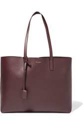 Saint Laurent Shopping Large Textured Leather Tote Burgundy