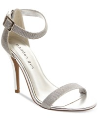 Madden Girl Madden Girl Dafney Two Piece Dress Sandals Women's Shoes Silver Glitter