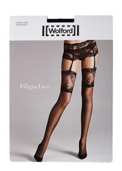 Wolford Filigra Lace Black 15 Denier Stockings